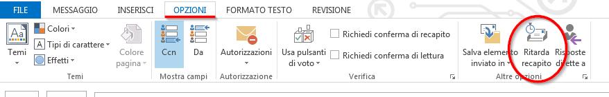 Opzioni composizione email